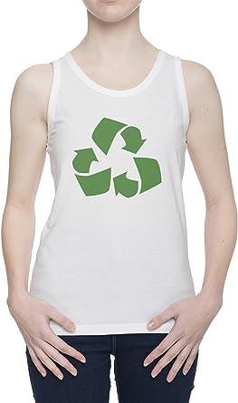 Reciclar De Tirantes Camiseta para Mujer Blanca Todos Los ...