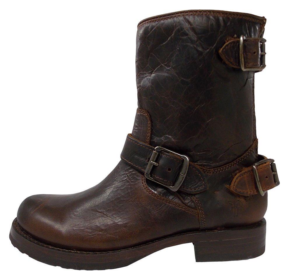 FRYE Company Veronica Back Zip Short Women's Boot B00FBJ6BD0 6 B(M) US|Dark Brown Antique Pull Up