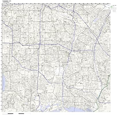Amazon.com: Compton, CA ZIP Code Map Laminated: Home & Kitchen on los angeles map, chualar map, gardena map, forrest park map, auberry map, long beach map, tyndall map, grimaldi map, 1000 palms map, cutler map, cedar ridge map, hope ranch map, california map, downieville map, crenshaw map, burbank studios map, angels camp map, la trade tech map, la county map, inglewood map,
