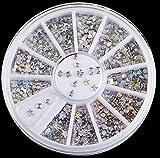 2400 PcsMagnificent Popular 3D Random Mixed Nails Art Wheel Full Design Decoration Cellphone Decor Size 1.5mm 6 Mix Diamond Gems Studs