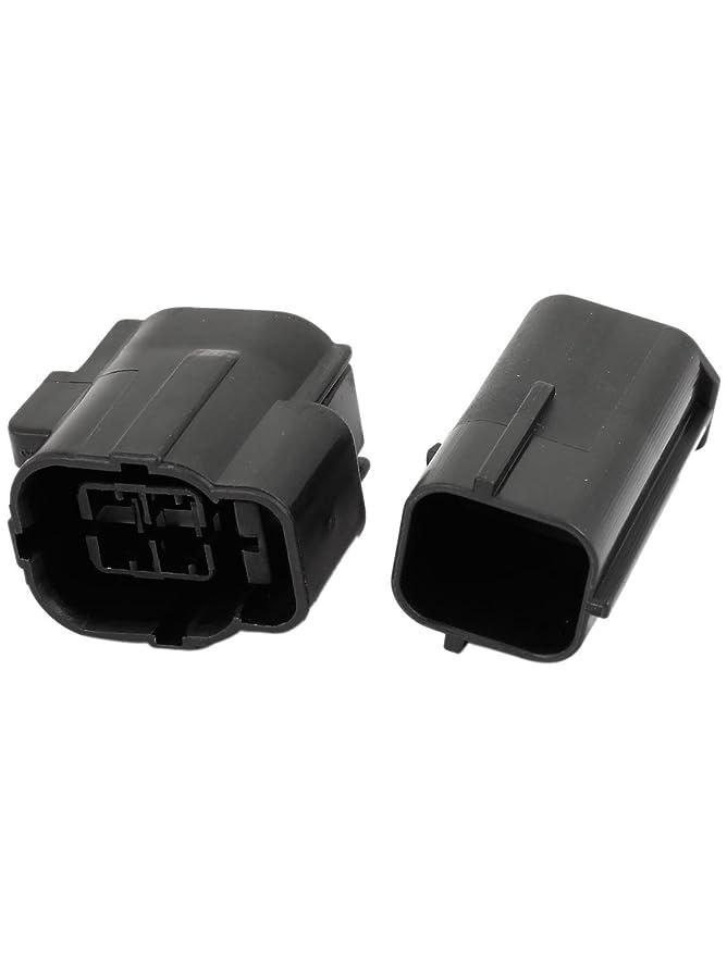 Amazon.com: eDealMax Negro 4-Pin 4 Posiciones de coches Auto conectores de Cable a prueba de agua de sockets: Car Electronics