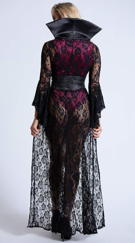 Amazon.com: Yandy - Disfraz de vampiro de terciopelo negro ...