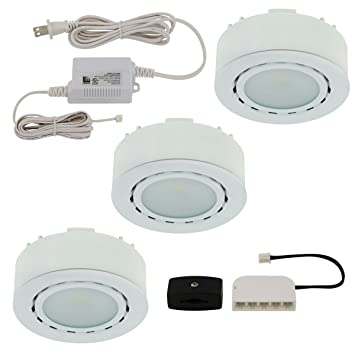 liteline ucpled3wh led threelight puck kit 12v white - Led Puck Lights