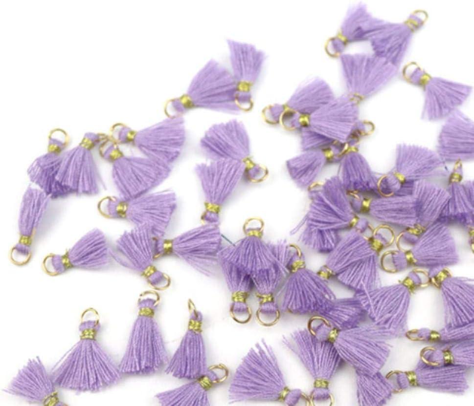 Ohrringe zum Aufh/ängen Ornamente kleine Fransen 20 St/ück Aqua gr/üne Quasten f/ür Bastelarbeiten Mini-Quasten-Anh/änger aus Baumwolle Schmuck 1 cm