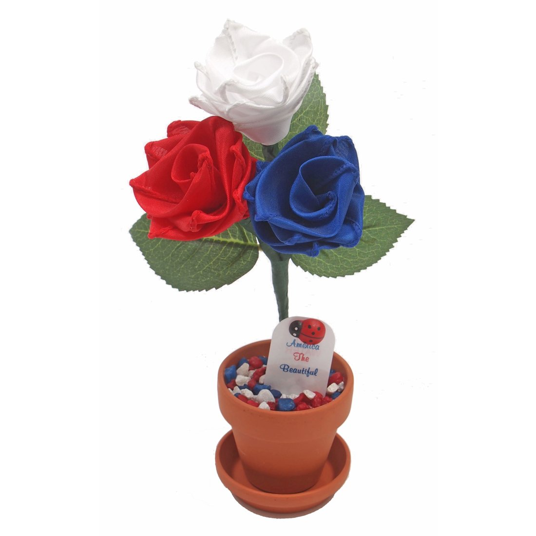 Patriotic July 4th gift rose, red white and blue - America The Beautiful