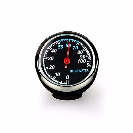 JISHUQICHEFUWU Cuadro electrónico de vehículo/luz de Noche automoción vehículo/Reloj/termómetro Interior