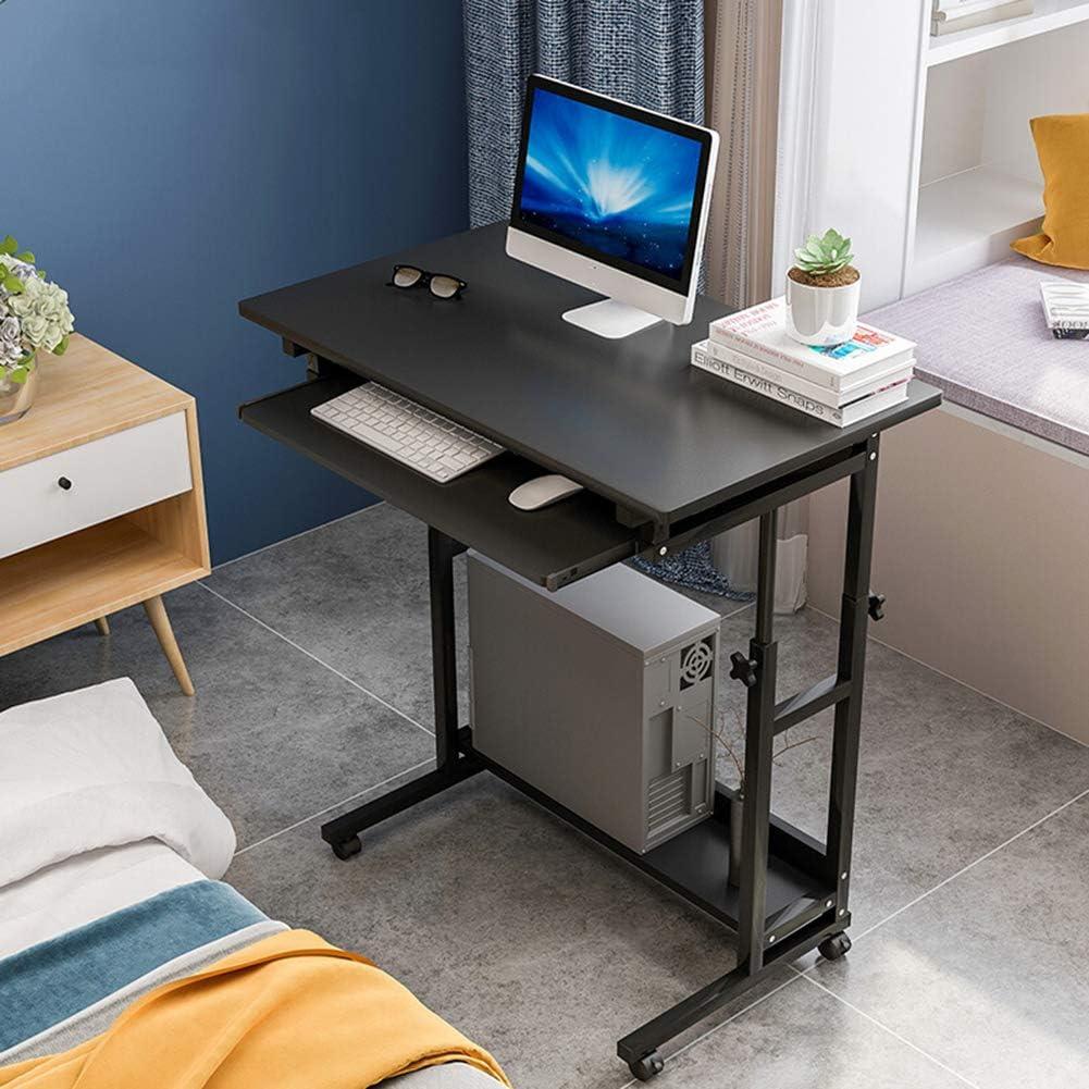 モバイルノートパソコンデスクのモバイルノートPCデスクは、高さ調節可能なサイドテーブルコンピュータはベッドソファ調節ラップトップテーブルスタンド