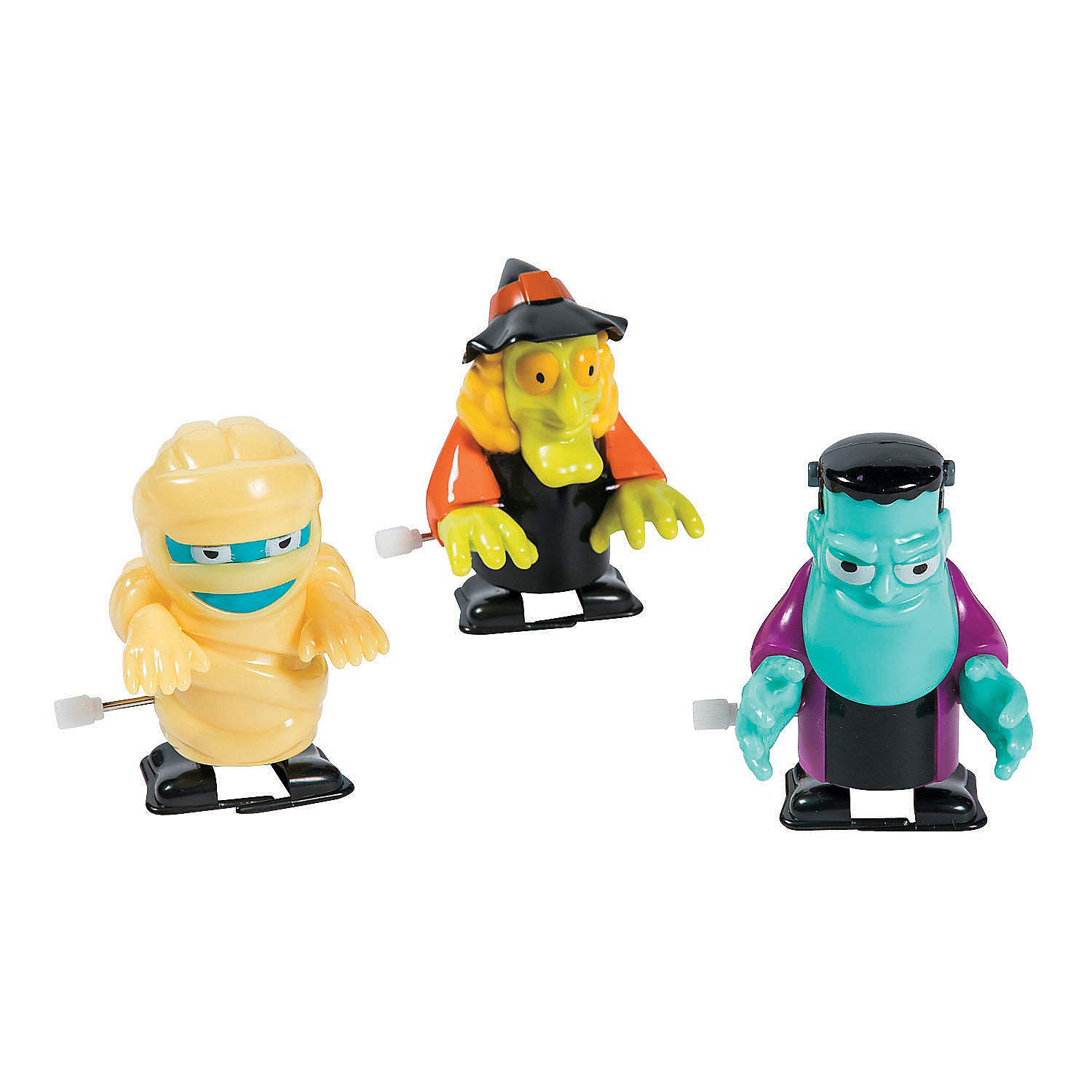 Fun Express Halloween Icons Wind Ups Toys (Set of 12) Character Toys - Wind Ups & Paratroopers - Halloween - 12 Pieces by Fun Express