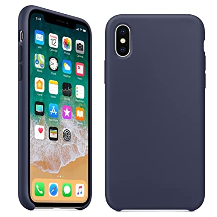 classic fit d5cee 851f1 Amazon.com: iPhone X Silicone Case,LIANGJIHUI Liquid Silicone Gel ...