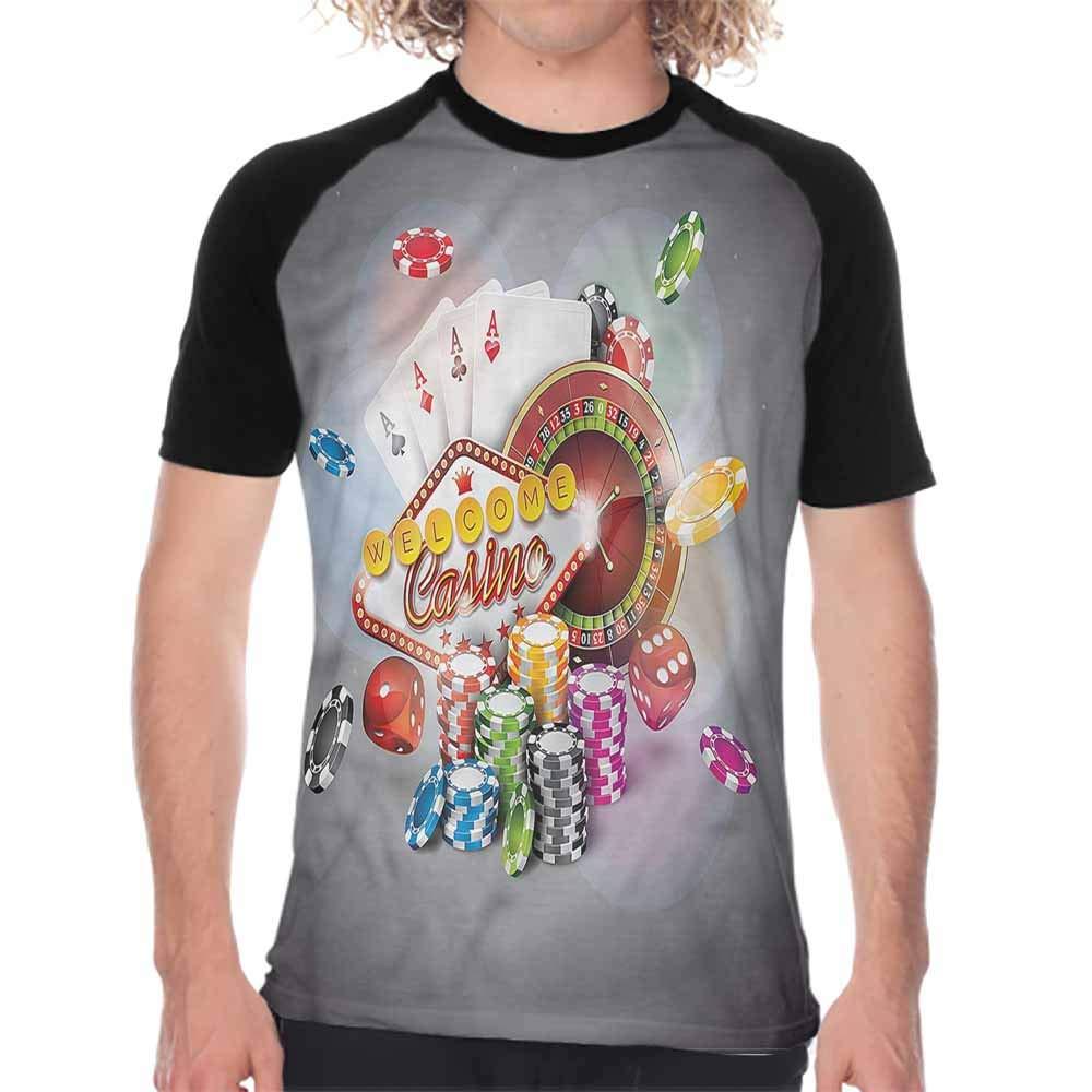 Houselife Playroom,Baseball Tee Mens Panoramic Fairy Landscape,Print Round Neck Short Sleeve