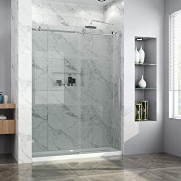 Elegant 60 In W X 72 In H Frameless Sliding Shower Door 3 8 In