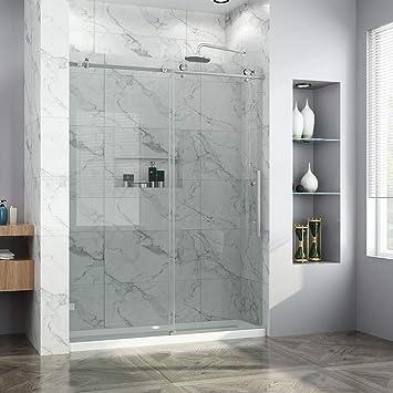 Elegant 60 W X 72 H Frameless Glass Sliding Shower Doors 38