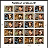 American Journalists, Full Sheet of 20 x 42-Cent Postage Stamps, USA 2008, Scott 4248-52