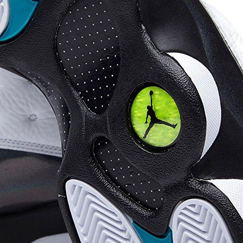 Nike Air Jordan 13 Retro, Zapatillas de Deporte para Hombre white/trpcl teal-blck-wlf gry