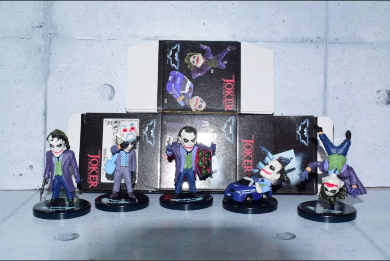 5 Pcs//set  Batman The Dark Knight The Joker PVC Figure Collectible Model Toy