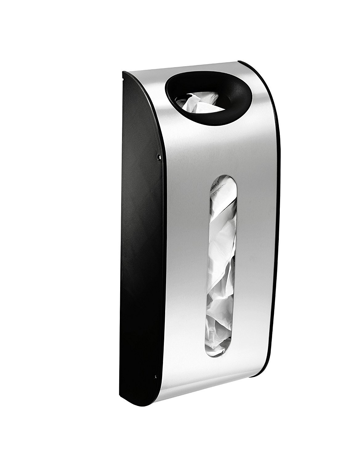simplehuman Wall Mount Grocery Bag Dispenser Brushed Stainless Steel