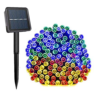 Komoon Solar String Lights 72 Ft 22 Meter 200 LED Solar Powered Fairy Christmas Lights for Outdoor Gardens Homes Wedding Party Lawn Patio Xmas Tree Waterproof (Multi Color)
