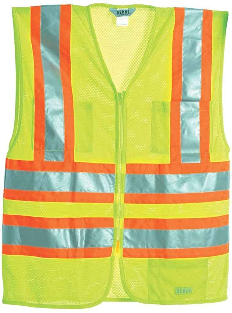 8c3349ae9 Yellow Yellow Yellow Berne Men's Hi-Visibility Multi-color Vest Yellow  dfe9ec