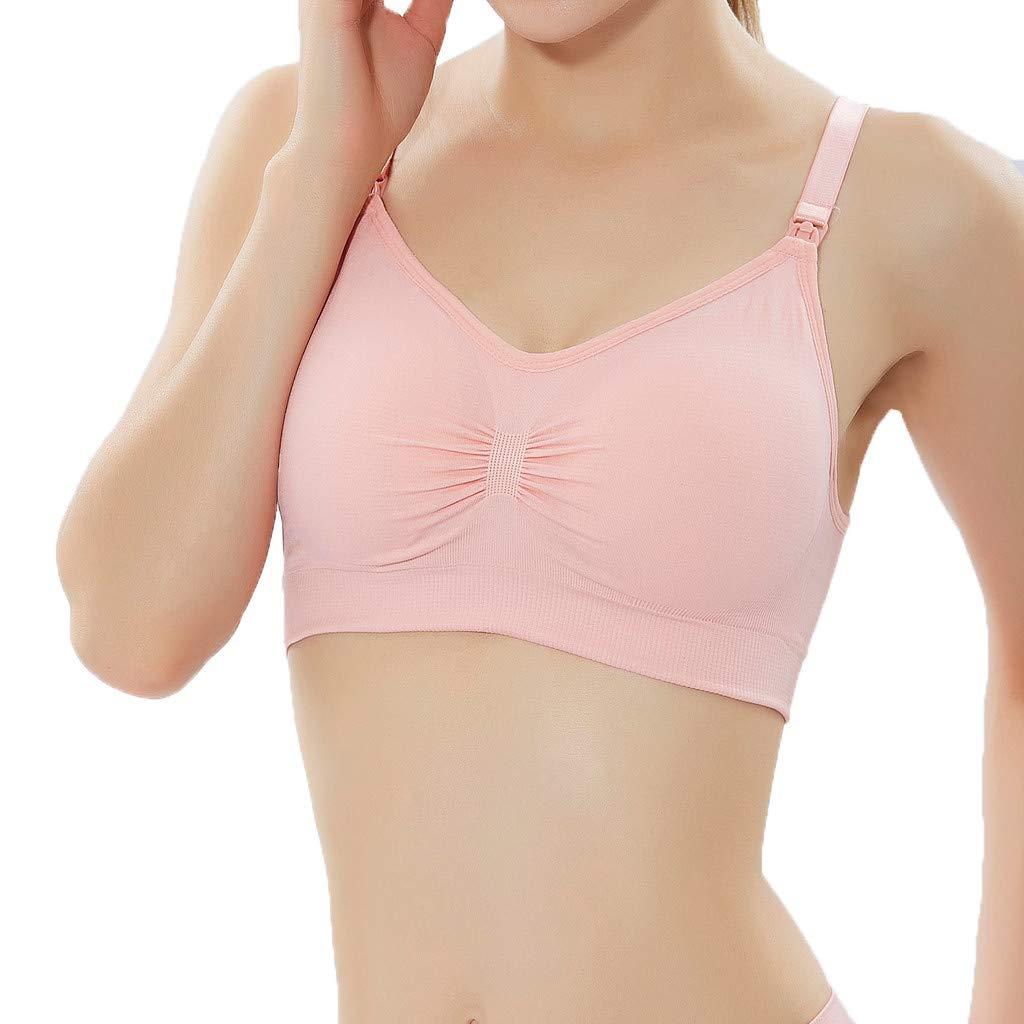 YEZIJIN Women's Sports Underwear Shock-Proof Yoga Gathering Worker's Bra Top 2019 New Best Women Wear Pink