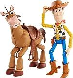 Mattel GDB91 - Toy Story 4 actionfiguren Pack Woody and Bully avontuurset, 17 cm speelgoed en paard vanaf 3 jaar
