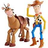 Disney and Pixar's Toy Story 4 Woody and Buzz Lightyear 2-Character Pack, Movie-inspired Relative-Scale for Storytelling Play
