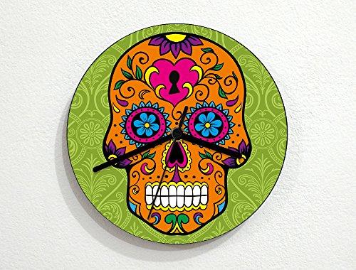 La Calavera Catrina Halloween Costume (Sugarskulls - Day of the Dead - Dia De Los Muertos - Wall Clock)