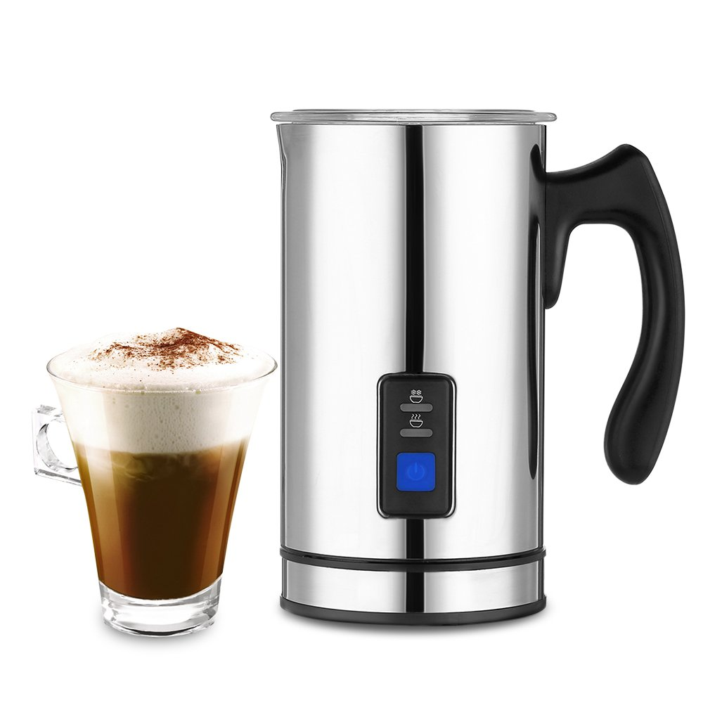 Magicook Automatic Electric Milk Frother & Heater with 3 Functions, Stainless Steel, Detachable Base, Non-Stick Interior, Fast foaming