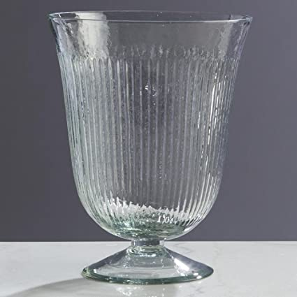 Amazon Fluted 9 Footed Glass Vase Home Kitchen