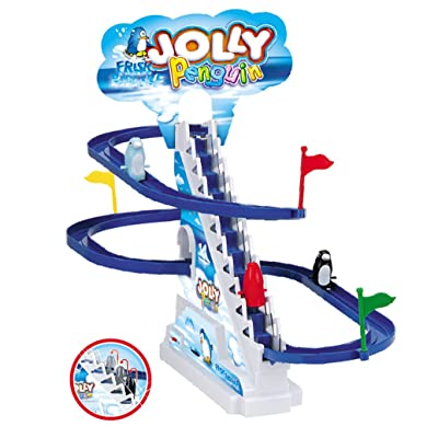Jolly Penguin Race Track Set: Toys & Games