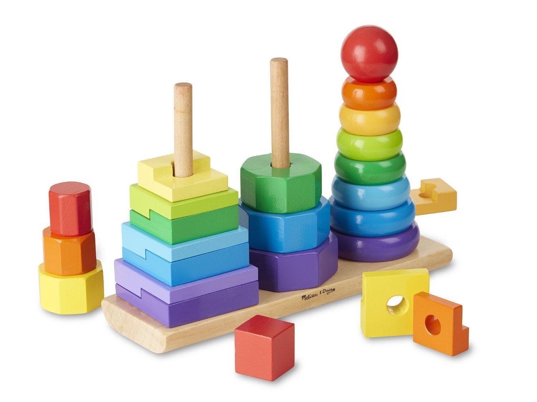 Geometric Stacker – Shape Sequence木製並べ替えセットと教育玩具木製教育玩具   B0713NMDW5