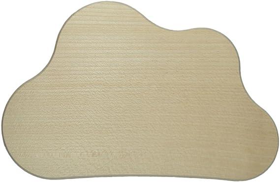 Holz Schild Wolke natur mit Jutegarn 40x20x0,6cm