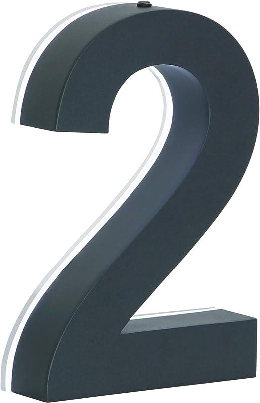 a LED anthrazit 3D a Buchstabe Hausnummer LED 3D anthrazit beleuchtet Edelstahl V2A rostfrei Tranformator 220 Volt D/ämmerungssensor vollautomatisches An und Aus 0 1 2 3 4 5 6 7 8 9 a b c d
