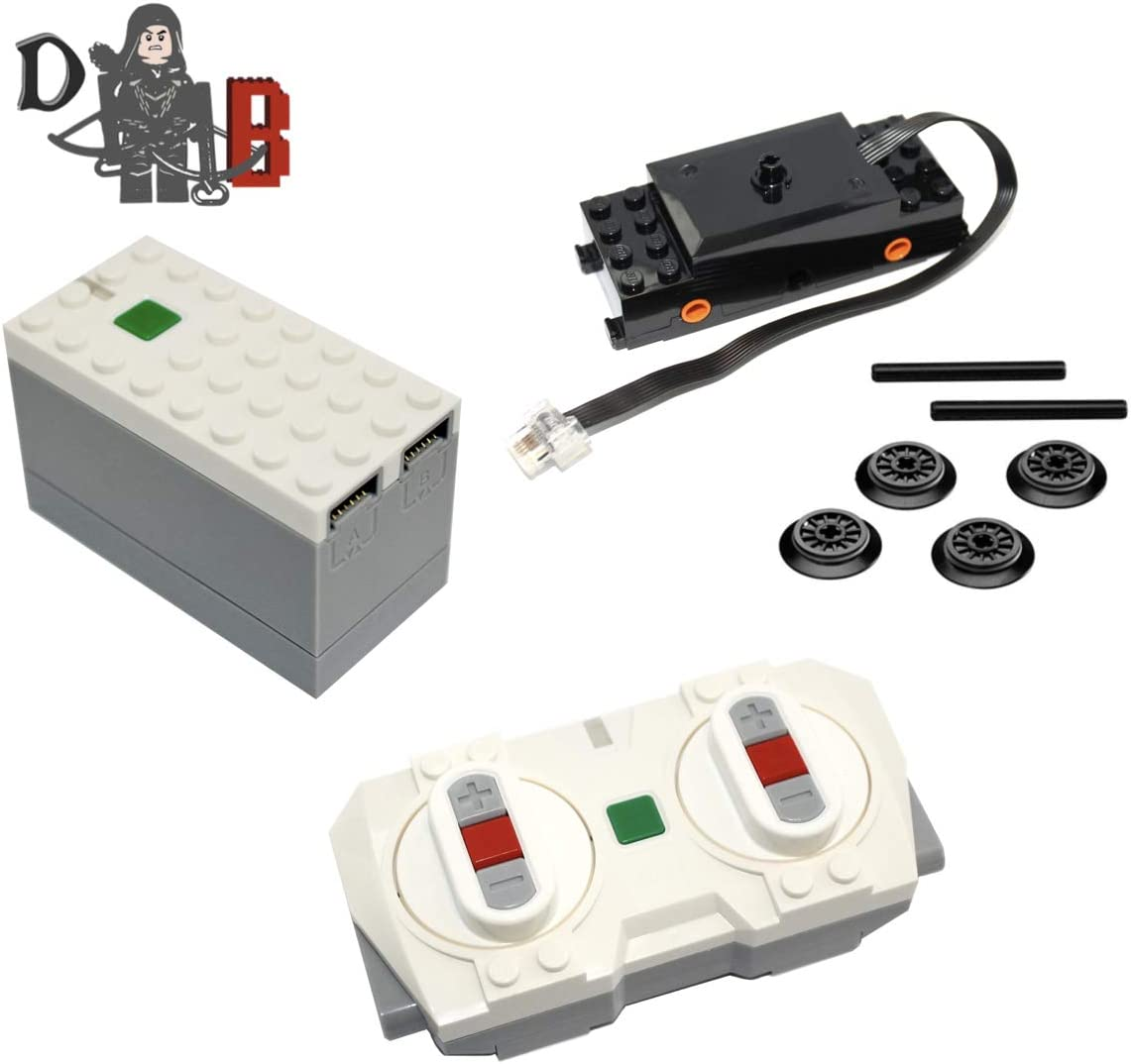 Power Functions 2.0 Powered UP Bluetooth Remote Control, Battery hub and Train Motor Kit from 60197 and 60198