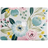 MacBook Air 13 inch Hard Case for Model A1369 / A1466, AQYLQ Ultra Slim Matte Plastic Rubber Coated Protective Hard Shell Cover, CY7.7-28 Blue Floral