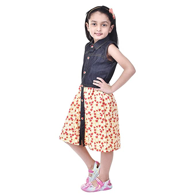 d922b5d5c GOODWILL Girl s Dress (Blue)  Amazon.in  Clothing   Accessories