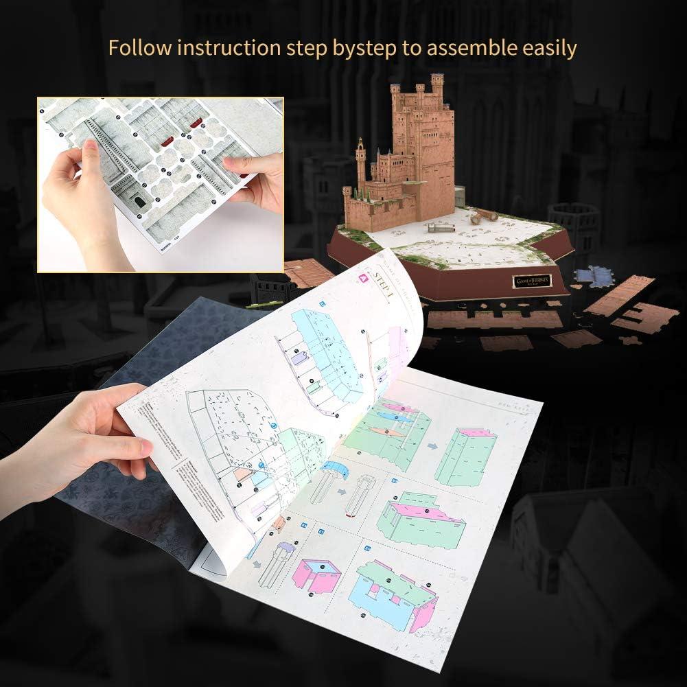 262 pi/èces Puzzle 3D Kings Landing Kit de Mod/èle Cadeau pour Adulte et Enfant CubicFun Game of Thrones D/écoration Song of Ice and Fire GOT