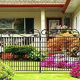 "Amagabeli Metal Garden Fence Border 44"" x 36"" x"