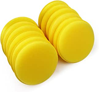 iTimo 12 pcs Car Vehicle Polish Wax Foam Sponges Car Applicator Pads Car Glass Cleaning Sponges