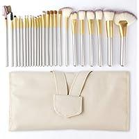Make up Brushes, AngKng 24pcs Premium Cosmetic Makeup Brush Set for Foundation Blending Blush Concealer Eye Shadow…