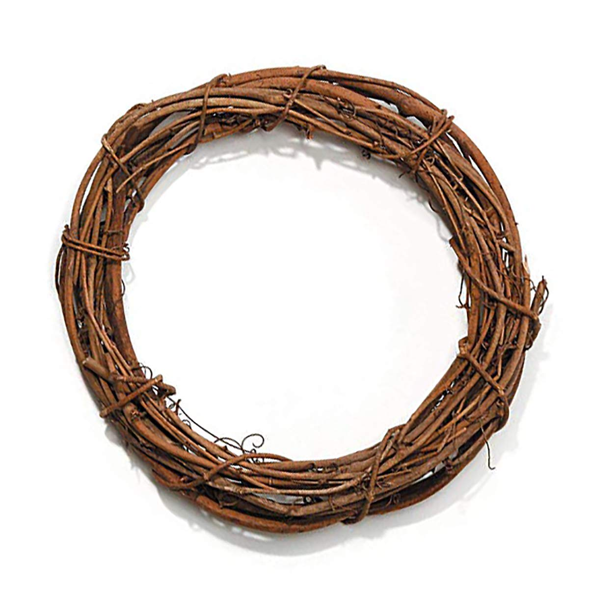 3 inch Natural Grapevine Wreath for DIY Crafts, 12-Pack Hanobo