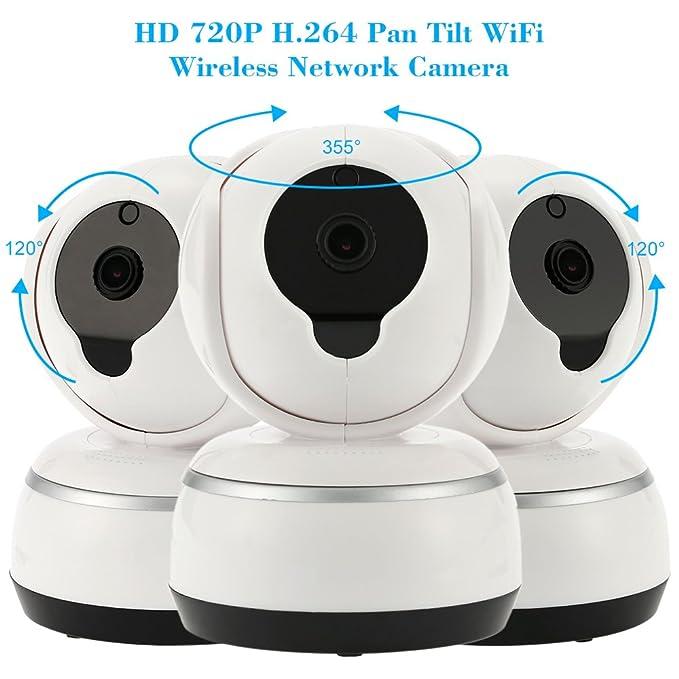 KKmoon jd-t3710-q3 720P Pan & Tilt Wifi IP Cámara de seguridad con ...