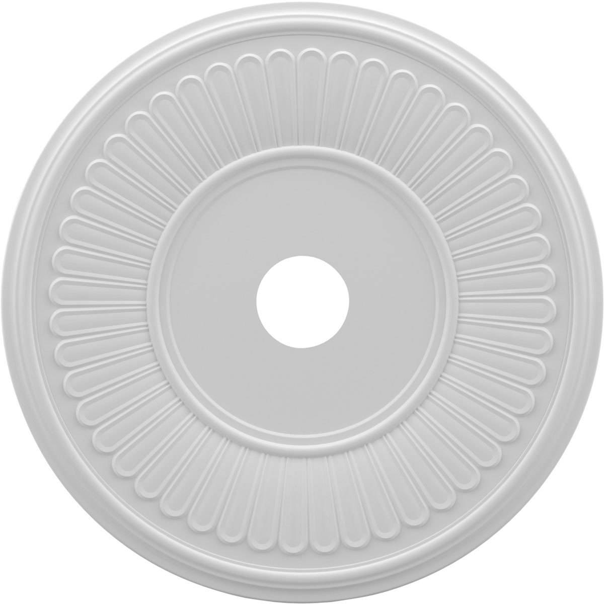 Ekena Millwork CMP22BE Berkshire Medallion Thermoformed PVC Ceiling, 22'' OD x 3 1/2'' ID x 1'' P, White