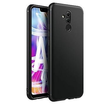 EasyAcc Funda para Huawei Mate 20 Lite Suave TPU Case Funda Protectora Trasera Mate Delgada Carcasa para Huawei Mate 20 Lite - Negro