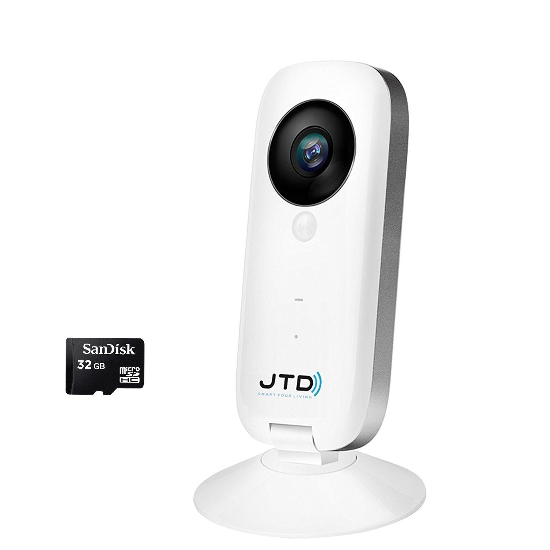 JTD CAM 720p HD Wireless Smart Home Day Night Security Surveillance Camera IP WiFi DVR (w/ 32GB SD Bundle)
