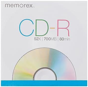 32020034024 Memorex Blank Media 52X 700MB 80 Minute CD-R 110 Pack Spindle
