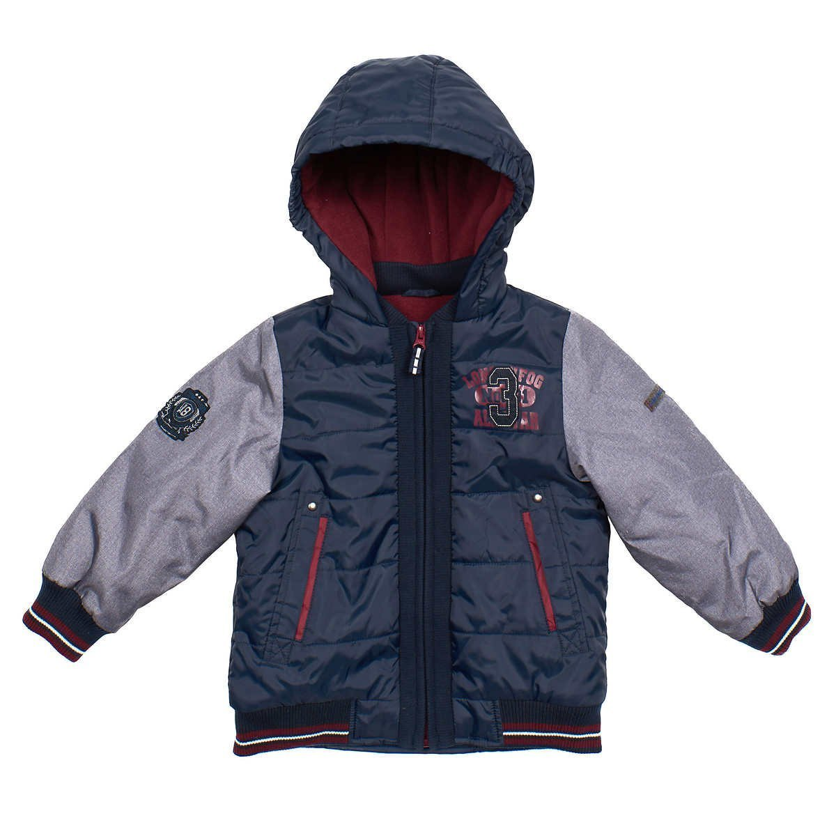 London Fog Toddler Boys Blue Fleece Lined Outerwear Jacket 559209BL-102114-H