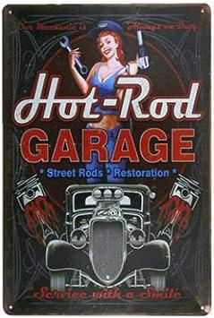 ainiqingjie Metal Letrero Tarjeta Garaje Reglas Metal Cartel De Chapa Bar Antiguo Metal Pintura Decoración: Amazon.es: Hogar