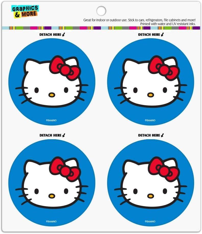 Hello Kitty Face Refrigerator Fridge Locker Vinyl Circle Magnet Set