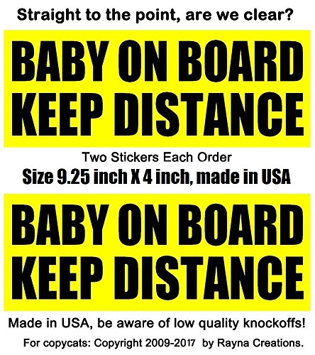 stickers tailgater DISTANCE distance removable
