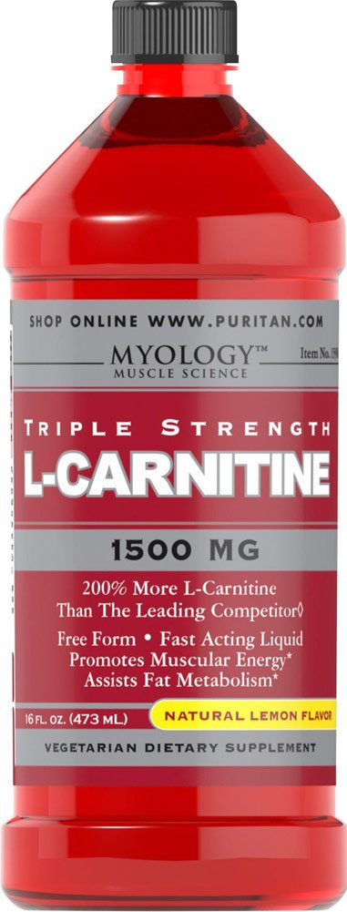 Vitamin World Triple Strength L-Carnitine, 1500mg, 16 fl oz Liquid, Natural Lemon Flavor